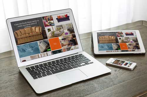 A responsive website design example from our Kent Studio